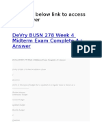 DeVry BUSN 278 Week 4 Midterm Exam Complete A+ Answer