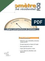 Le baromètre du marché résidentiel de la FCIQ