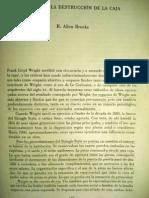 """H. Allen Brooks. """"Wright y la destrucción de la caja"""""""