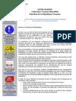 Lettre Ouverte à M. Le Pdt de La République 2015.07.31-1