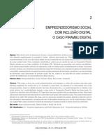 EMPREENDEDORISMO SOCIAL   COM INCLUSÃO DIGITAL