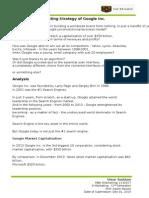 Marketing Strategy of GOOGLE INC. by Umar Saddam