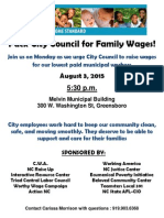 Pack City Council for Family Wages!