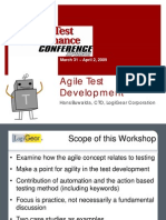 Agile Test Development