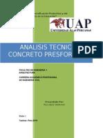 Analisis Tecnico Del Concreto Presformado.