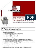 Experience With Keyword Automation