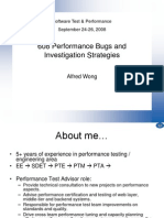 Performance Bugs and Investigation Strategies