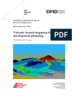 Volcanic hazard mapping for development planning