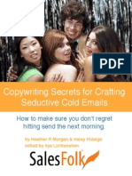 Copywriting Secrets for Crafting Seductive Cold Emails