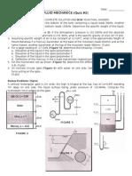 Quiz #2 Fluid Mechanics