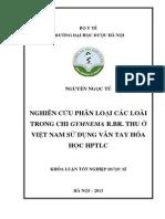 Nghiên cứu phân loại các loài trong chi Gymnema R.BR. thu ở Việt Nam sử dụng vân tay hóa học HPTLC.pdf