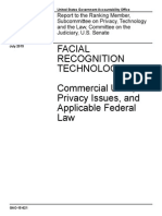 FACIAL RECOGNITION TECHNOLOGY Commercial Uses, Privacy Issues, and Applicable Federal Law