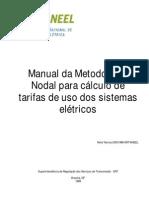 Manual da Metodologia Nodal para cálculo de tarifas de uso dos sistemas elétricos - ANEEL