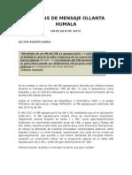 Analisis Mensaje - Sector Agropecuario