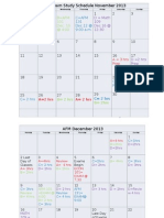 AFM Ft 2013 Exam Study Schedule