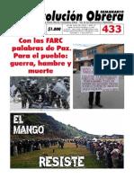 Semanario revolución Obrera Edición No. 433