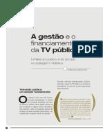 A Gestão e o Financiamento Da TV Pública