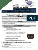 Ebs_capacitta_taller Nacional 100% Práctico_de_planificación y Gestión de Pspto. Público_20, 21 y 22 de Mayo_2015