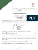 Uso de Métodos numéricos para resolución de ecuaciones diferenciales