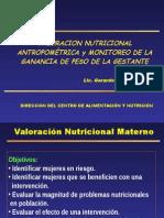 Valoración Nutricional de La Gestante