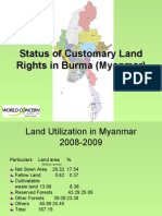 Burma Customary Land Rights Presentation