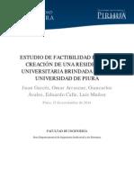 ESTUDIO DE FACTIBILIDAD PARA LA CREACIÓN DE UNA RESIDENCIA UNIVERSITARIA BRINDADA POR LA UNIVERSIDAD DE PIURA