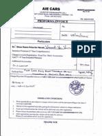 Proforma Invoice 107908