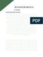 Balanza de Pagos de Bolivia