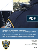 NYPD Body Camera Report