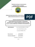 Proyecto Harina de Tarwipropiedades funcionales harina de tarwi
