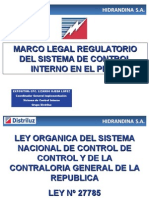 Marco Legal Regulatorio Del Sci