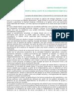 Ossenbach Sauter, Estado y Educación en América Latina a Partir de Su Independencia