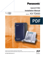 Manual Panasonic IP-PBX  TD50