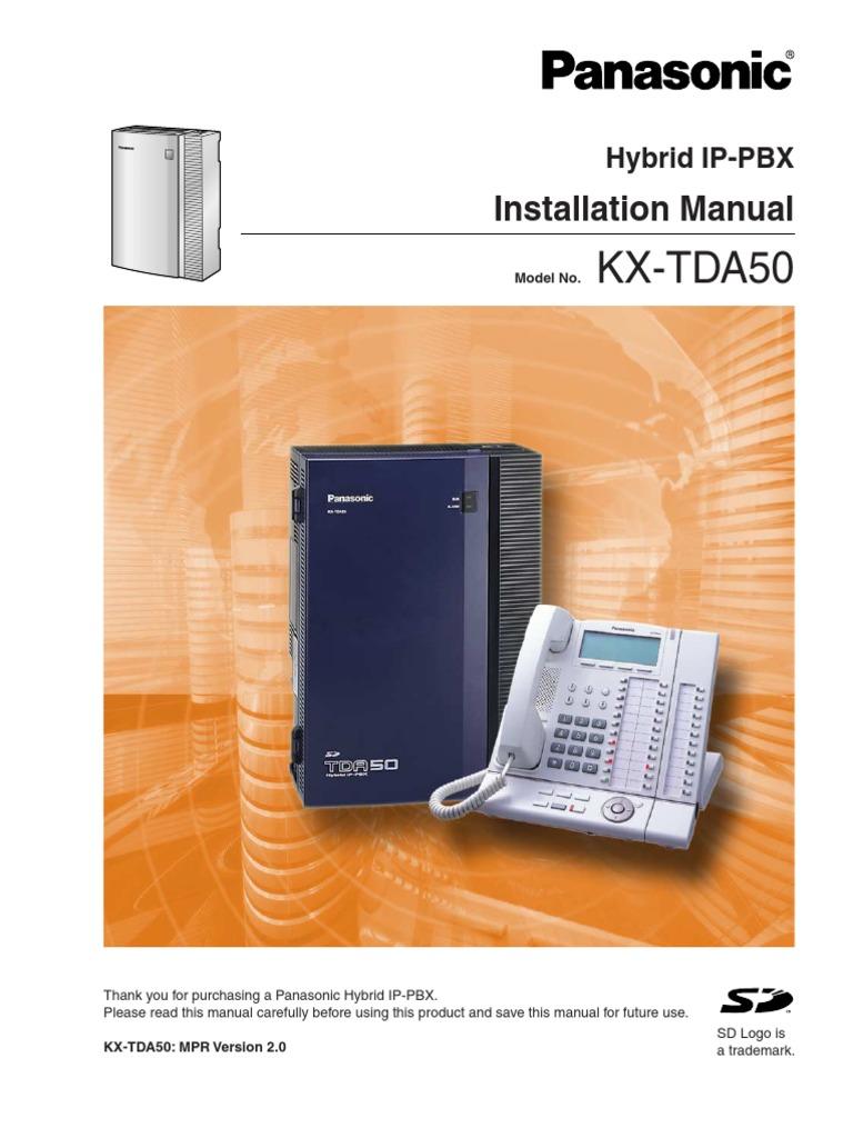 manual panasonic ip pbx td50 electromagnetic interference radio rh scribd com panasonic kx tva50 programming manual panasonic kx-tda50g manual