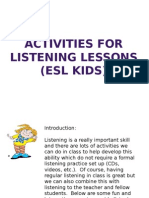 Activities for Listening Lessons