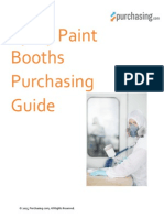 Spray Paint Booths Purchasing Guide