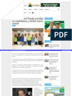 09-07-2015 Marcos Daniel Pineda inscribió su candidatura y recibió nuevo coaval