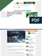 25-07-2015 Lanzamiento de Marcos Daniel Pineda, abre la campaña política por la Alcaldía de Montería