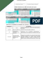 Propuesta de Calendario Escolar