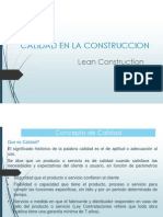 calidad en la construccion . lean construction