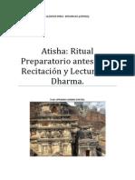 Atisha Ritual Preparatorio Antes de La Recitación y Lectura Del Dharma.