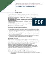 Especificaciones Tecnicas I.E.S. J.M.M. Ultimmo