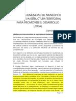 La Mancomunidad de Municipios