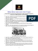 Military History Anniversaries 0801 Thru 081515