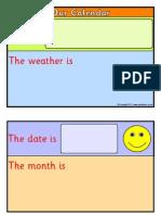 Calendar in Class