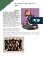 Barcelona, Sede De La Final Del Life Fitness Personal Trainers To Watch 2015
