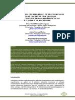 Validación del Cuestionario de Frecuencia de Prácticas Docentes con Enfoque Constructivista en la Enseñanza de la Lectura y la Escritura - Omar David Almaraz Rodríguez