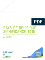 Days of Religious Significance 2015