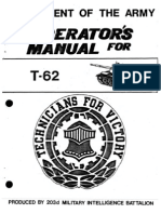 Russian T-62 Medium Tank - Operators Manual