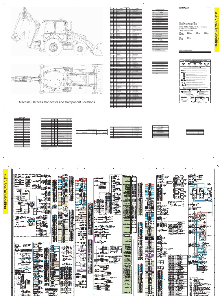 1404 Caterpillar Engine Diagram Basic Guide Wiring Cat 3126 434e Schematic Electrical System Rh Scribd Com